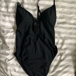 Hollister black one piece swimsuit XS